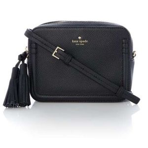 Kate Spade black camera crossbody bag